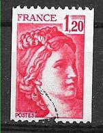 FRANCE 1981B  Sabine De Gandon 1.20 Rouge Roulette - Gebruikt