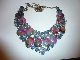 Collier En Pierres Multicolores - Bijoux & Horlogerie
