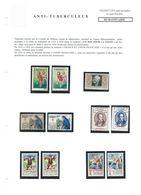 Erinnophilie TUBERCULOSE FRANCE INDOCHINE UN SOU DEUX SOUS Diverses Vignettes  Divers états Bien - Lettres & Documents
