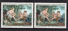 FRANCE 1970 - 2 TP DIFFERENTS / Y.T. N° 1652  - NEUFS** - Variedades Y Curiosidades