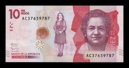 Colombia 10000 Pesos 2016 Pick 460 SC UNC - Colombia