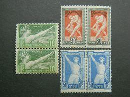 1924 Jeux Olympiques Yvert 183 185 186 Paire - Ungebraucht