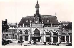 GARE Sans TRAIN - 59 - VALENCIENNE : La Gare CPSM Photo Noir Blanc Format CPA - Nord - Stations Without Trains