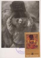Carte  Maximum  1er  Jour   NICARAGUA   Oeuvre  De  REMBRANDT   1971 - Rembrandt