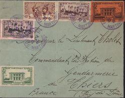 Martinique YT 137 138 139 140 141 CAD Violet Fort De France 30 4 41 Censure Contrôle Postal 5 Martinique Guerre 39 45 - Martinique (1886-1947)