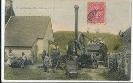 AR 554 /  C P A - AGRICULTURE   -  MACHINE AGRICOLE LE BATTAGE DES BLES - Non Classificati