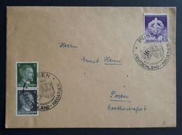 DR 1942, Brief MiF SST POSEN, Zusammendruck - Allemagne