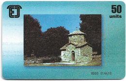 Georgia - Pelikom - Church, 50U, 10.1996, 50.000ex, Used - Géorgie