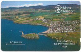 Isle Of Man - GPT - Landscapes - Peel Castle (shallow Notch), 5IOMA - 20U, 1989, Used - Man (Ile De)