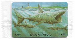 Isle Of Man - Chip - Marine Life - Basking Shark - 21U, 1995, 10.000ex, NSB - Man (Ile De)