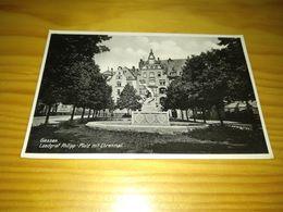 """Postcard """"Giessen Landgraf Philipp - Platz Mit Ehrenmal"""" - Giessen"""