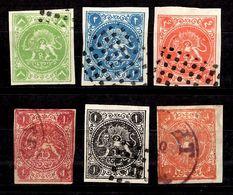 Iran Six Classiques Oblitérés 1870/1875. B/TB. A Saisir! - Iran
