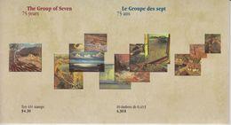 Canada Sc# 1559-1561 MNH Set/3 Souvenir Sheet (in Folder W/booklet) 1995 43c Group Of Seven - HerdenkingsOmslagen
