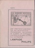Lampade Philips. Pubblicità 1936 - Publicités