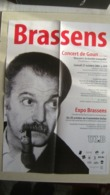 AFFICHE  EXPOSITION  GEORGES BRASSENS  A LIEVIN    2001 - Posters