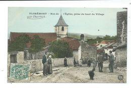 CPA FLOREMONT - RUE DE L'EGLISE - PRISE DU HAUT DU VILLAGE - TRÈS ANIMÉE - Frankrijk