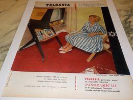 ANCIENNE PUBLICITE PREMIER TELEVISION TELEAVIA   1958 - Television