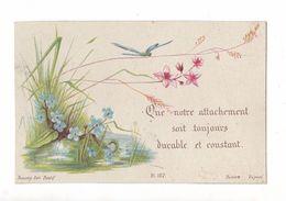 Que Notre Attachement Soit Toujours Durable, Libellules Et Fleurs, éd. Bonamy Pl. 127 - Images Religieuses