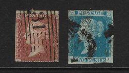 GRAN BRETAÑA - CLÁSICOS. Yvert Nsº 3/4 Usados Y Un Sello Muy Defectuoso - 1840-1901 (Victoria)