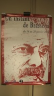 AFFICHE  EXPOSITION  GEORGES BRASSENS  A MONTPELLIER  2002 - Posters