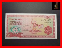 BURUNDI 20 Francs 1.6.1979  P. 27 A  UNC - Burundi