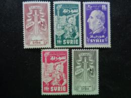 SYRIE 1957 MIC. N° 717 à 721 ** - ANNIV. DE L' EVACUATION - Syrie
