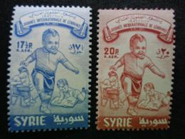 SYRIE 1957 MICH. N° 739 & 740 ** - JOURNNE DE L'ENFANT - Syrie