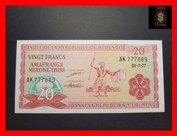 BURUNDI 20 Francs 1.7.1977  P. 71 A  UNC - Burundi