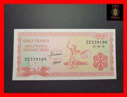 BURUNDI 20 Francs 1.10.1991  P. 27 C  UNC - Burundi