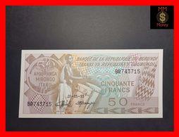 BURUNDI 50 Francs 1.5.1993  P. 28  UNC - Burundi