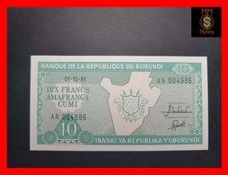 BURUNDI 10 Francs  1.10.1991  P. 33  UNC - Burundi