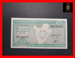 BURUNDI 10 Francs  5.2.1997  P. 33  UNC - Burundi