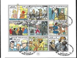 OCB Nr 2841/48 BL81 Blok 81 Strip BD Comic Cartoon Tintin Kuifje + .....centrale Stempel - Blocks & Sheetlets 1962-....