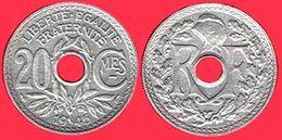 ** RARE  20 Ct.  1945  ZINC ** - Francia