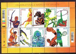 South Africa 2004 - Sports, Min. Sheet -  Michel 1585-94 -  MNH, NEUF, Postfrisch - Blocs-feuillets