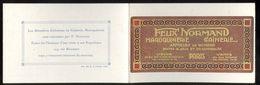 Dépliant Publicitaire Felix Normand Maroquinerie Gainerie - Paris - Publicités