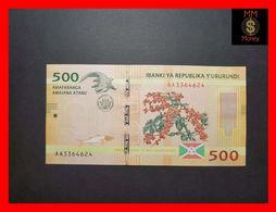 BURUNDI 500 Francs  15.1.2015  P. 50  UNC - Burundi