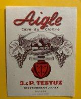 11669 - Aigle Cave Du Cloître J & P Tetuz - Etiquetas