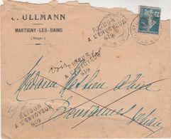 Enveloppe Commerciale ULLMANN 88 Martigny / Retour Envoyeur 619 / Pour Breuvannes 52 / Haute-Marne - Marcophilie (Lettres)