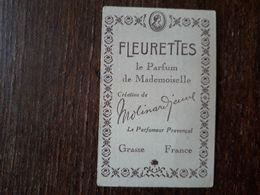 L18/168 Petite Carte Publicitaire . Grasse. Le Parfum De Mademoiselle. Fleurettes . Molinard Jeune - Advertising