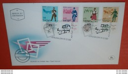 ISRAEL Mit Tab 378-381 Tag Der Briefmarke  -- FDC Cover (2 Foto)(136239) - FDC