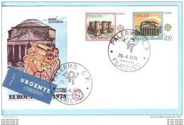 ITALIEN ITALY ITALIA  FDC  1607-08 Cept Europa Baudenkmäler (15664) - 1946-.. République