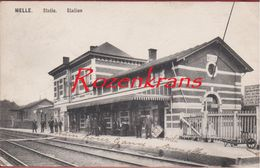 Melle Statie Station La Gare Geanimeerd 1909 (in Zeer Goede Staat) - Melle