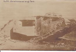 Engl. Panzer Tank  Carte  Photo 1° Guerre - Weltkrieg 1914-18
