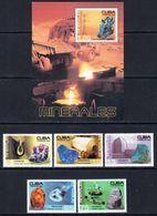 2004 Cuba  Minerals Geology Trucks Complete Set Of 5 + Souvenir Sheet  MNH - Unused Stamps