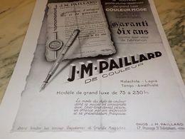 ANCIENNE PUBLICITE PORTE PLUME DE LUXE  DE PAILLARD   1928 - Autres Collections