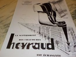 ANCIENNE PUBLICITE SUPERIORITE  CHAUSSURE HEYRAUD   1928 - Vintage Clothes & Linen