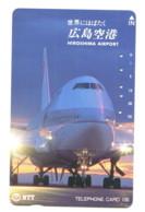 Télécarte NTT : Aéroport D'Hiroshima - Avions