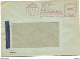 126 - 78 - Enveloppe Commerciale Avec Oblit Mnécanique Rouge 1948 - Zone Française
