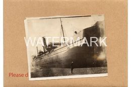 SS GRINDON HALL ASHORE AT LYME REGIS ONE OFF OLD PHOTOGRAPH AGROUND DISASTER - Barche